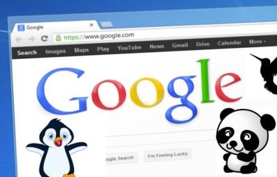 Google updates history